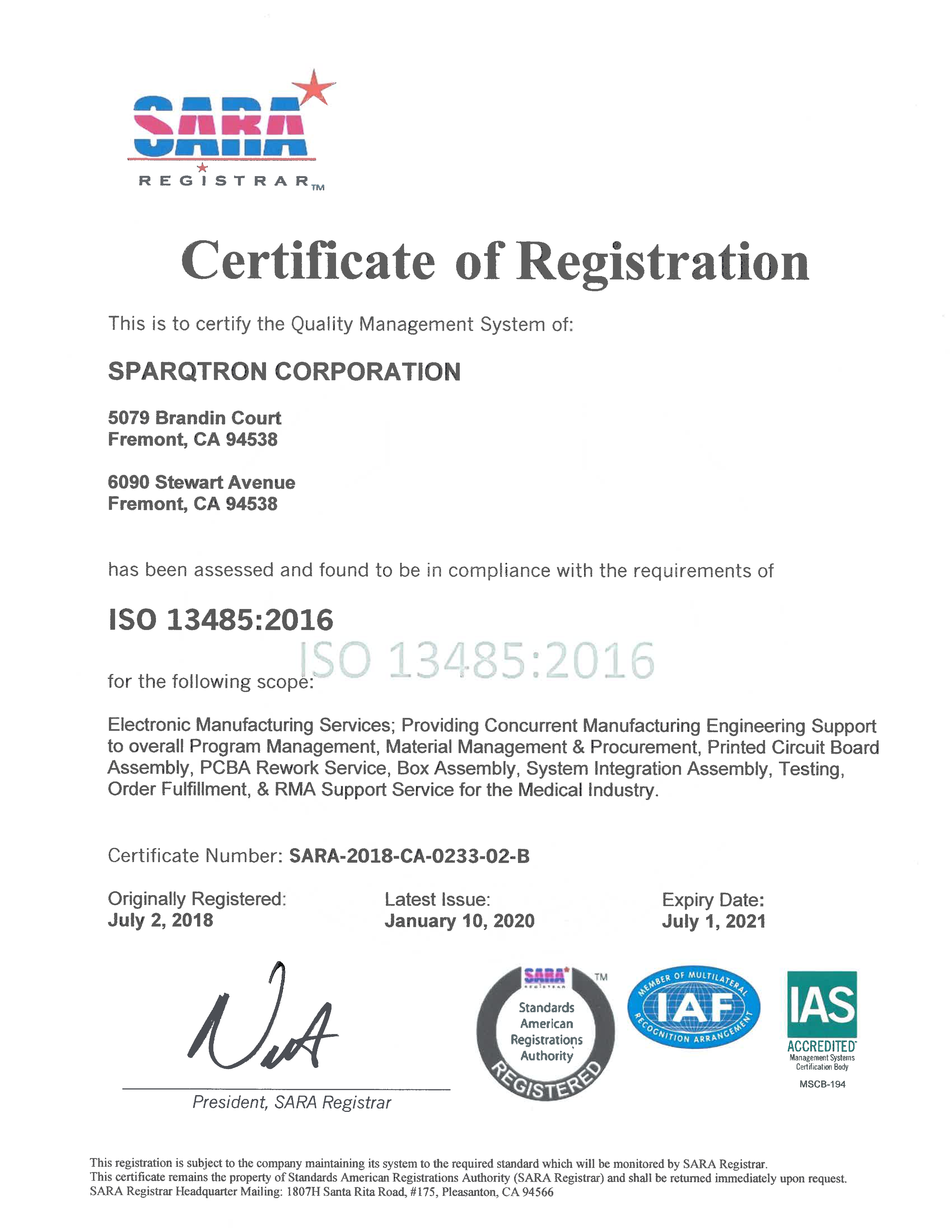 P5-Quality Commitment, ISO 9001 & 13485 Certified